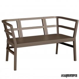 Sofá RECLICKCLACK para terrazas color chocolate