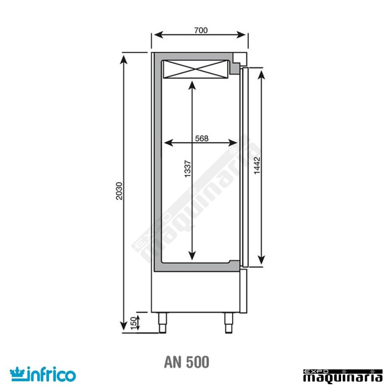 Nevera vertical refrigerador inan501tf - Dimensiones de una nevera ...