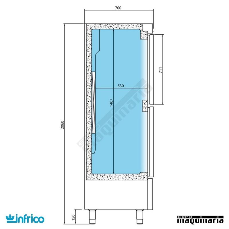 Nevera vertical refrigerador inan502t f - Nevera dos puertas verticales ...