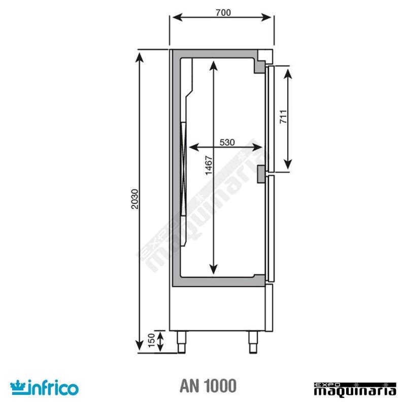 Nevera vertical refrigerador inan1002t f - Dimensiones de una nevera ...
