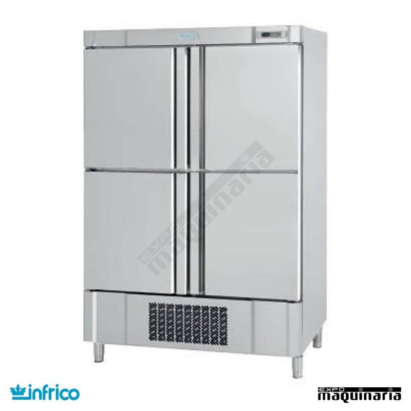 Armario de refrigeraci n doble con cuatro puertas an1004tf - Nevera doble puerta ...