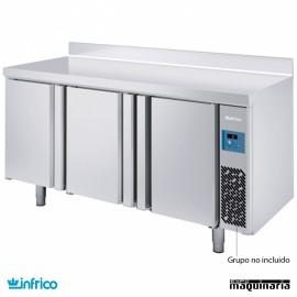 Mesa refrigerada GN1/1 SIN MOTOR (165.2,4x70 cm) BMGN1960GR