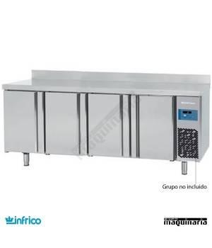 Mesa refrigerada GN1/1 SIN MOTOR (222,4x70 cm) BMGN2450GR