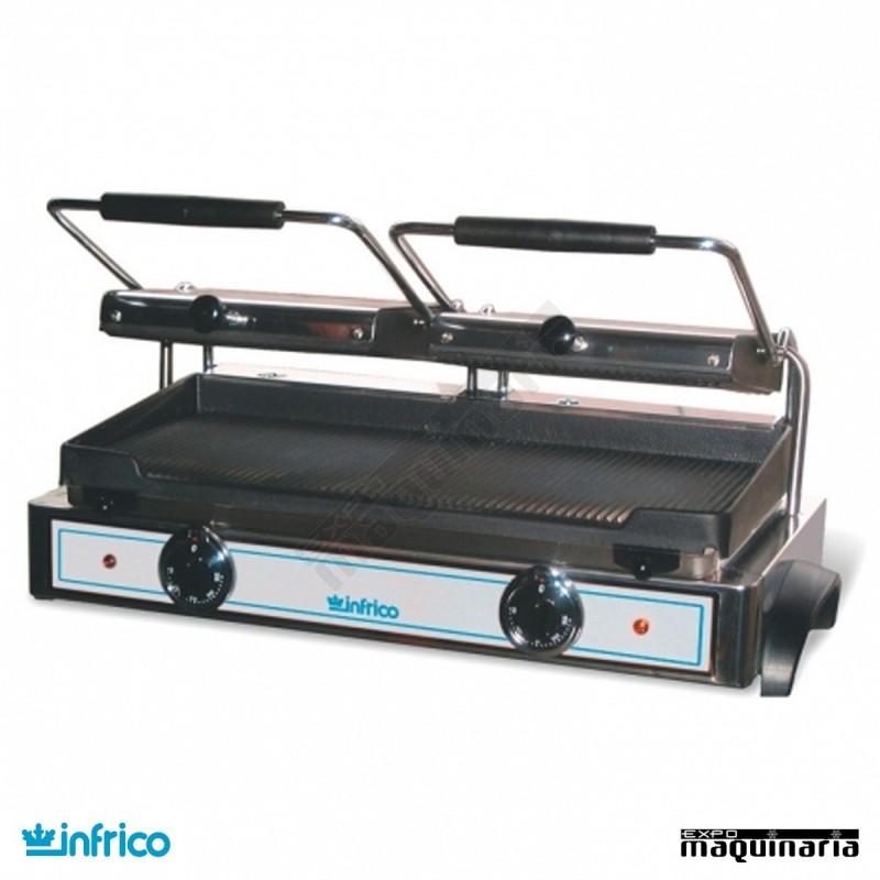 Plancha grill infrico ingr82 de acero inoxidable placas for Plancha industrial