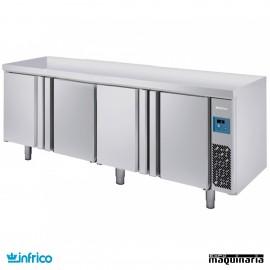 Mesa refrigerada pasteleria pre-instalada (244,4x80 cm) MR2750GR