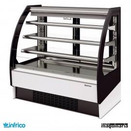 Vitrina expositora de pastelería INVBR9DS doble servicio