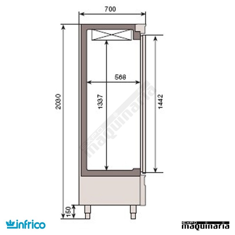Nevera vertical refrigerador 208 1 x 70 cm an1603t f tres cuerpos - Nevera congelador dos puertas ...