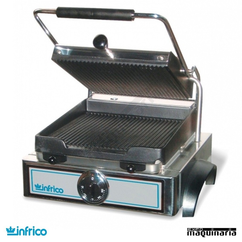 Plancha grill infrico ingr61 acero inoxidable con termostato for Plancha industrial