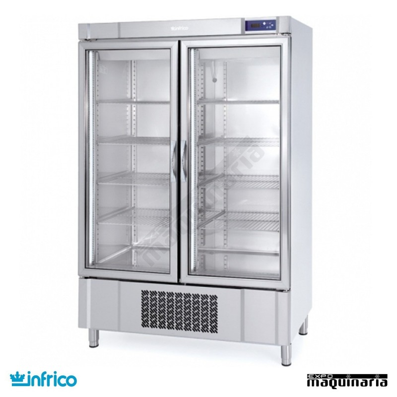 Nevera refrigerador con puerta de cristal inaex1000tf - Nevera doble puerta ...