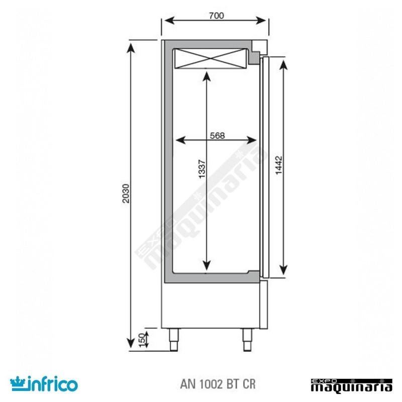Nevera refrigerador con puerta de cristal inaex1000tf - Neveras doble puerta ...