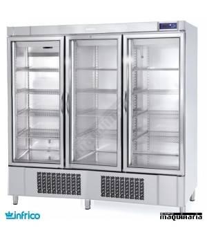 Nevera Refrigerador con Puerta de Cristal INAEX1600TF