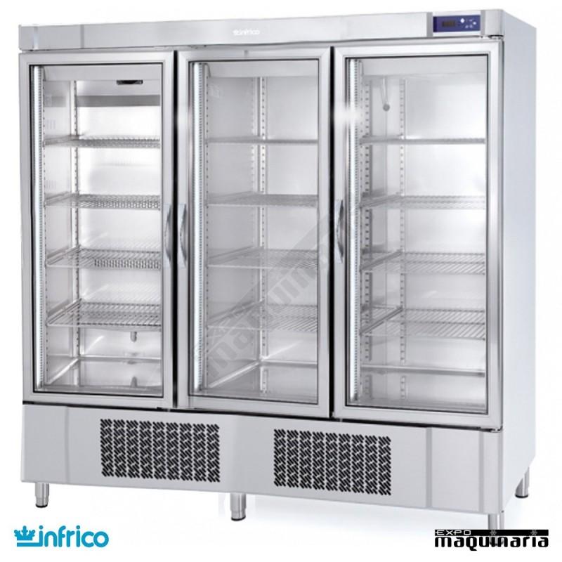 Nevera refrigerador con puerta de cristal inaex1600tf - Nevera doble puerta ...