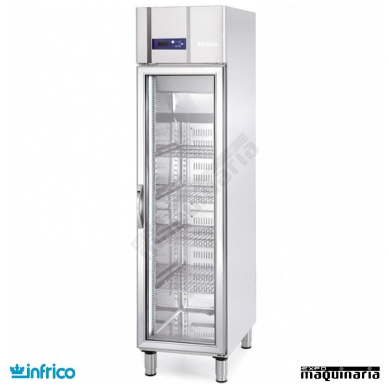 Nevera refrigerador con puerta de cristal inagn300cr - Nevera doble puerta ...