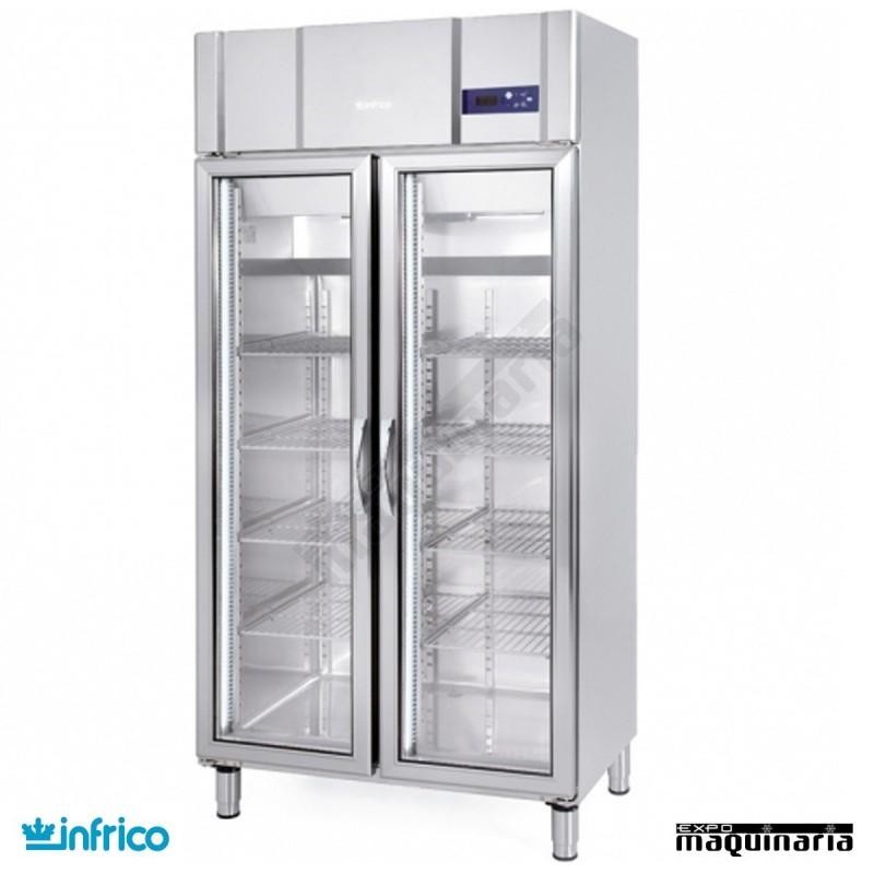 Nevera refrigerador con puerta de cristal inagn600cr - Nevera doble puerta ...