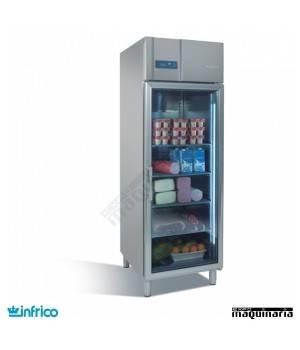 Nevera Refrigerador Expositor GN 2/1 con Puerta de Cristal