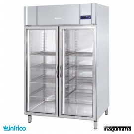 Nevera Refrigerador Expositor GN 2/1 con Puerta de Cristal INAGB1402CR