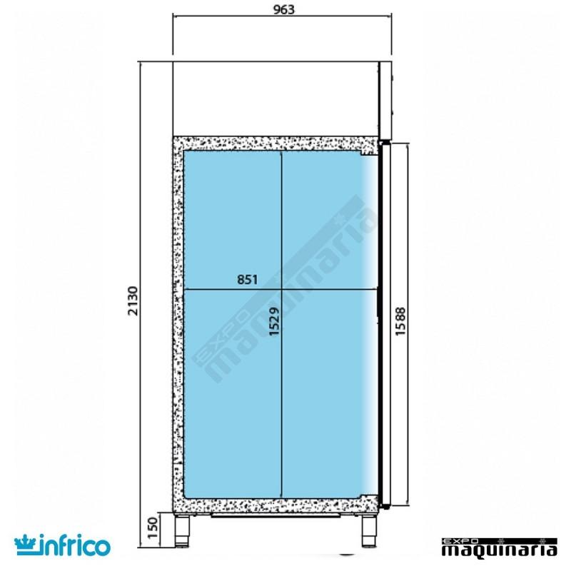 Nevera refrigerador euronorma 80x60 inagb901 - Nevera americana medidas ...