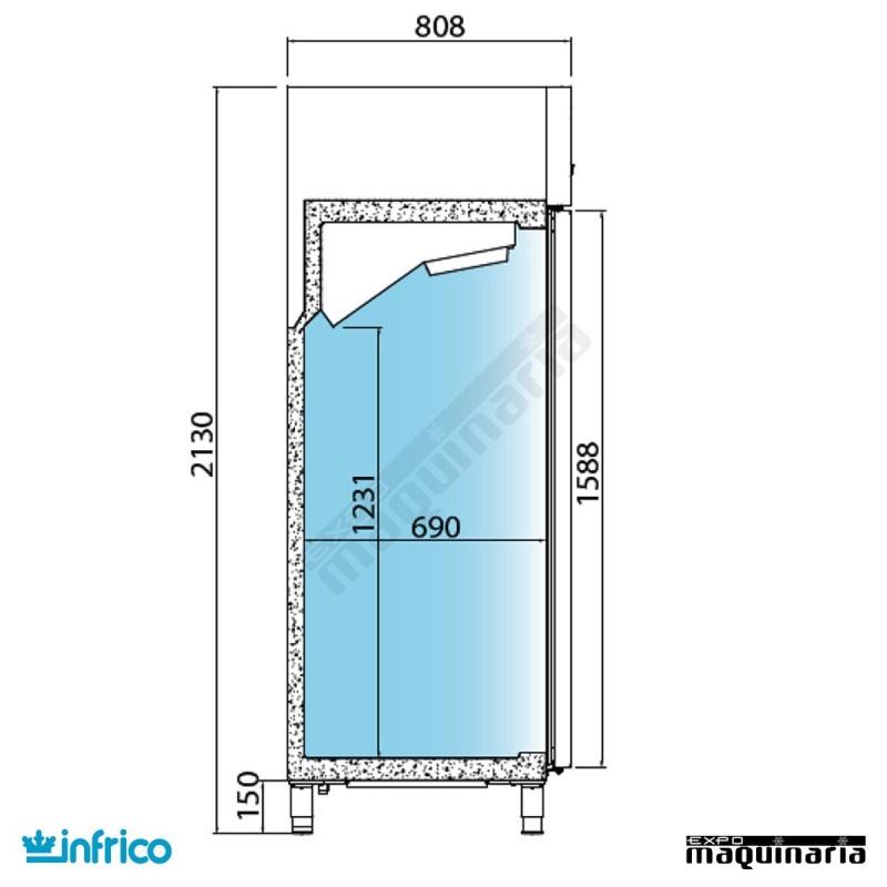 Nevera refrigerador nacional asg700ii - Nevera americana medidas ...