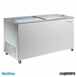 Arcon Congelador 426L. Puerta de Cristal 150.3X67X90