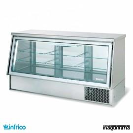 Vitrina cerrada refrigerada frío ventilado sin reserva 1.4 m