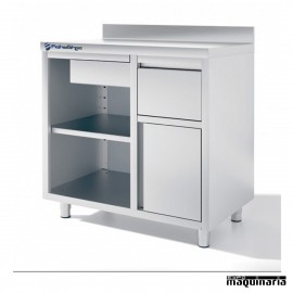 Mueble cafetero IFFMC100 de 100 cm de acero inox.