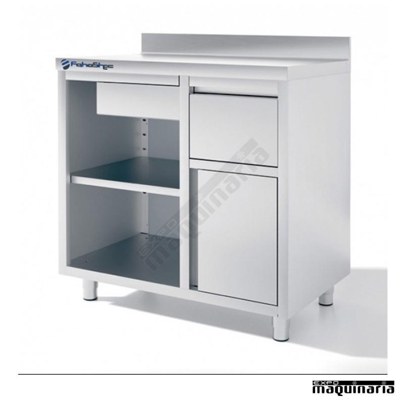 Mueble cafetero iffmc100 de 100 cm de acero inox for Muebles para cafeteria precios