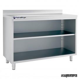 Mesa estantería IFFEST150 de acero inox.