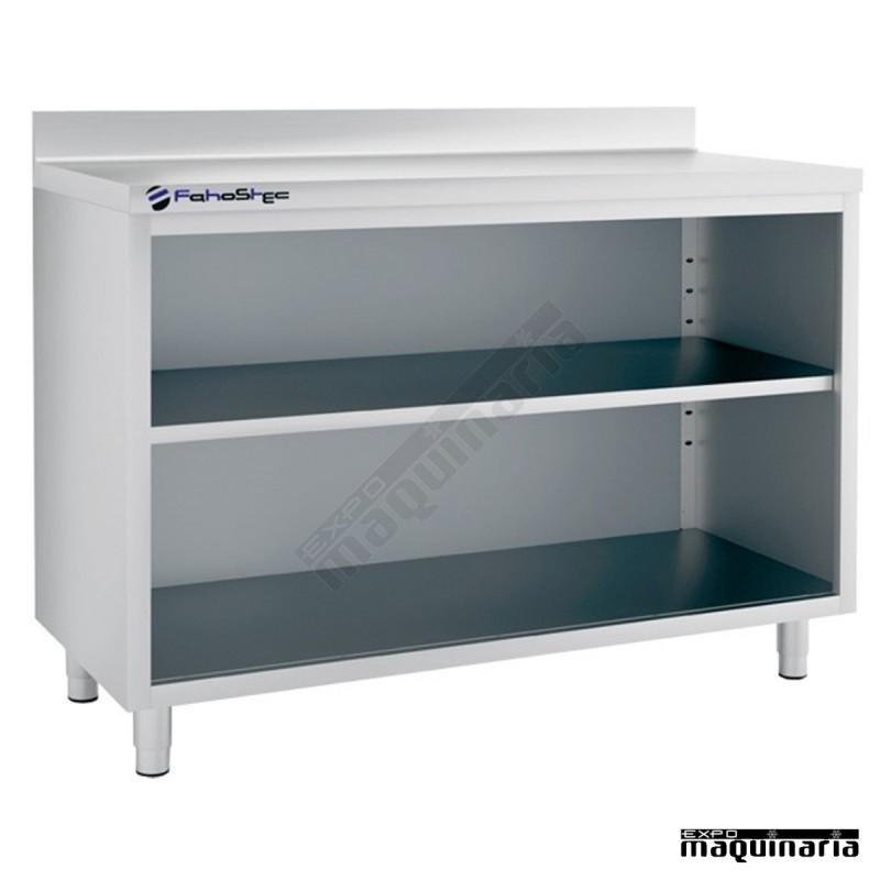 Mesa estanter a iffest150 de acero inox tras barra acero - Estanterias acero inoxidable ikea ...