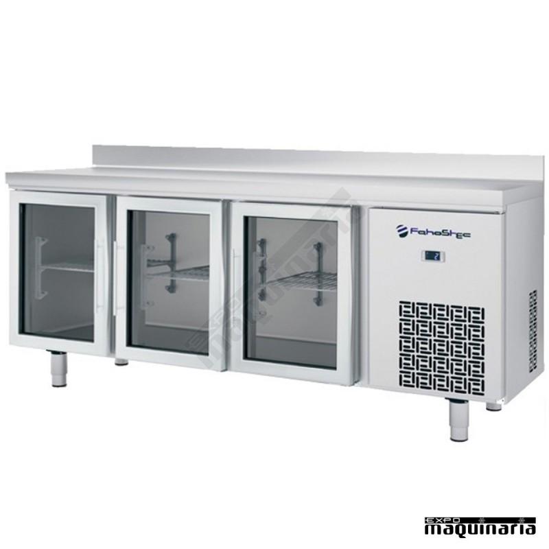 Mesa refrigerada p cristal 196 x 60 cm iffm603pcr 3 for Mesa cristal 150 x 60