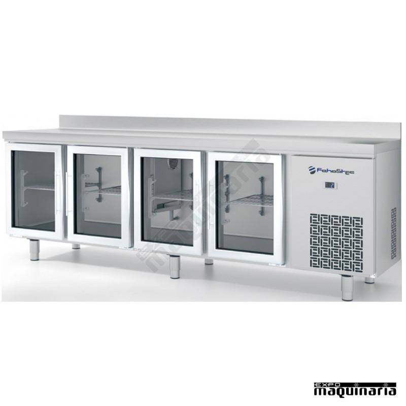 Mesa refrigrada 245 2 x 60 cm iffm604pcr con 4 puertas for Mesa cristal 60 x 60