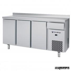 Frente mostrador alto (196 x 60 cm) IFFF603P de acero inox.