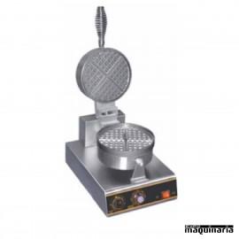 Gofrera eléctrica simple redonda CAWF10