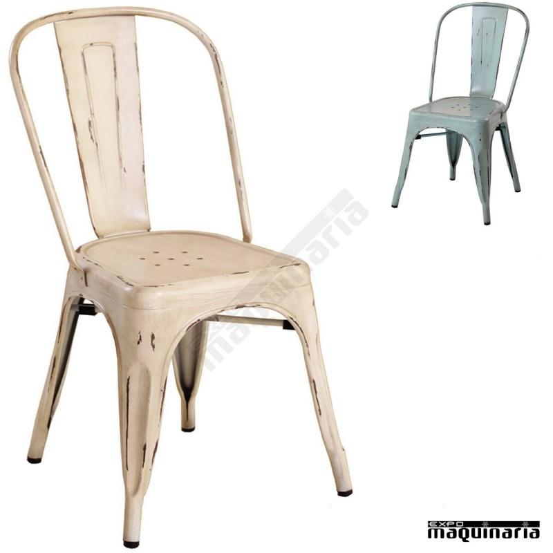 Silla vintage de acero dl801a sillas de bar sillas de terraza - Sillas para terraza de bar ...