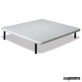 Base tapizada tela colch n king size con estructura de for Base para colchon king size