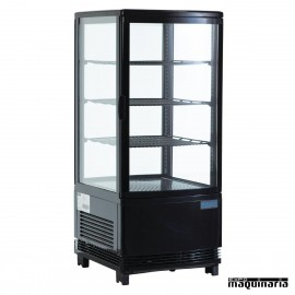 Expositor refrigerado negro 68 litros cristal 4 caras NIG211