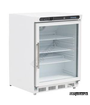 Refrigerador expositor puerta cristal bajo mostrador 150L CD086