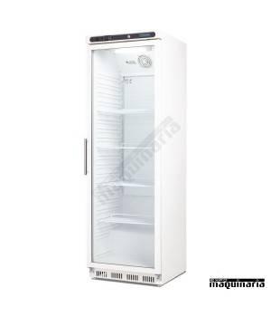 Refrigerador expositor puerta cristal bajo mostrador 400L CD087
