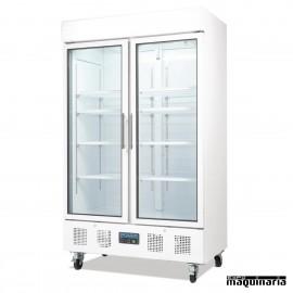 Vitrina refrigeradora vertical puerta cristal 336litros NIDM076