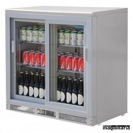 Enfriador de botellas plateado NICC601 180 botellas 330 ml