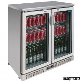Enfriador de botellas plateado NICE206 180 botellas 330 ml
