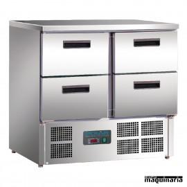 Mostrador frigorífico con 4 puertas NIU638