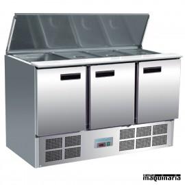 Mostrador preparación de ensaladas 368 litros NIG607