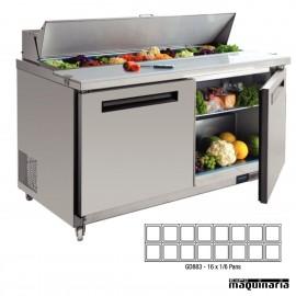 Mostrador preparación ensaladas 527 litros NIGD883