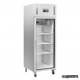 Armario frigorífico puerta cristal 600 litros