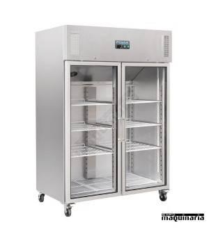 Armario frigorífico 2 puertas cristal 1200 litros NICW198