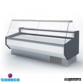 Vitrina expositora carnicería cristal recto COCVED825R (252.5 cm)