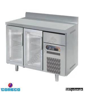 Frente mostrador refrigeración puertas cristal COFSRV150