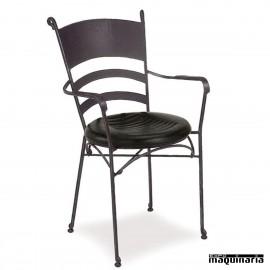 Sillón de forja asiento espuma integral IM361I