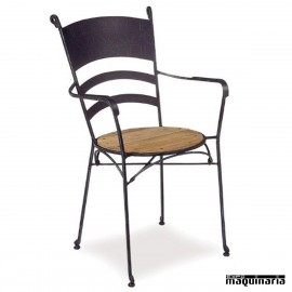 Sillón de forja asiento Teka IM361T