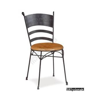 "Silla de bar forja asiento ""solo"" IM161S"